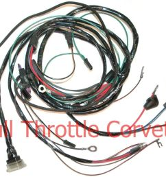 1964 1965 corvette sb engine wiring harness without a c ebay [ 1000 x 850 Pixel ]