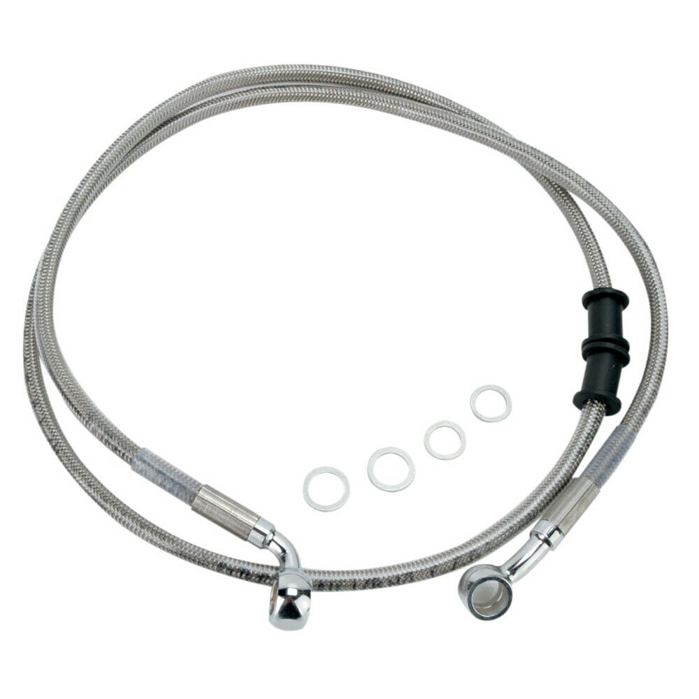 Front Stainless Braided Brake Line 2008-2010 Harley