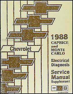 1988 Chevy Caprice Wiring Diagram Manual Classic
