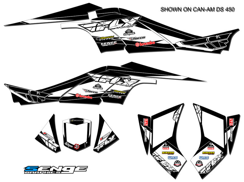 CAN-AM CAN AM DS650 DS 650 GRAPHICS KIT ATV STICKERS