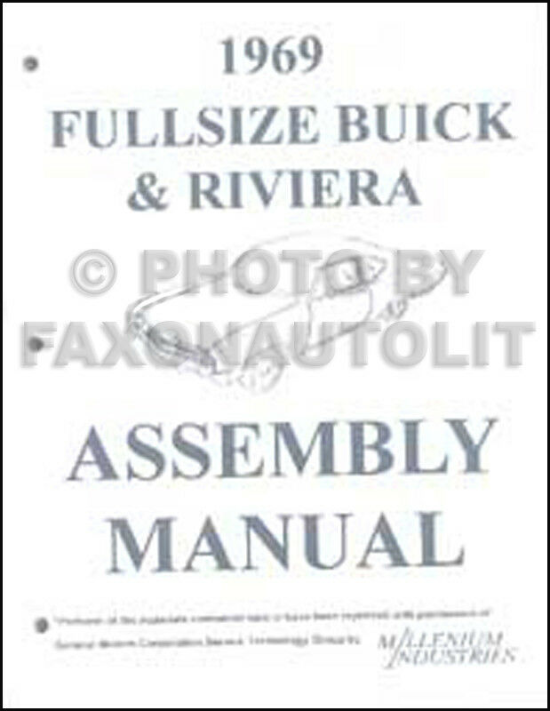 1969 Buick Factory Assembly Manual Riviera Wildcat LeSabre