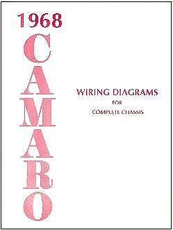1968 68 CAMARO WIRING DIAGRAM MANUAL | eBay