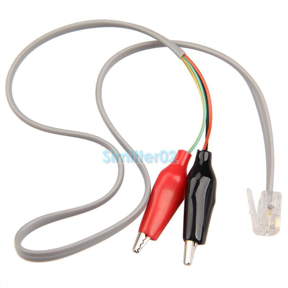 medium resolution of details about home phone telephone rj11 plug alligator clip test tester cable wire cord