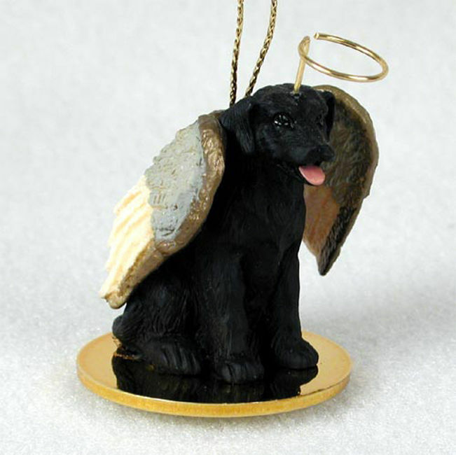 Black Lab Dog Figurine Angel Statue EBay
