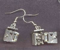 Funny OUTHOUSE EARRINGS-Camping Country Bathroom Charm ...