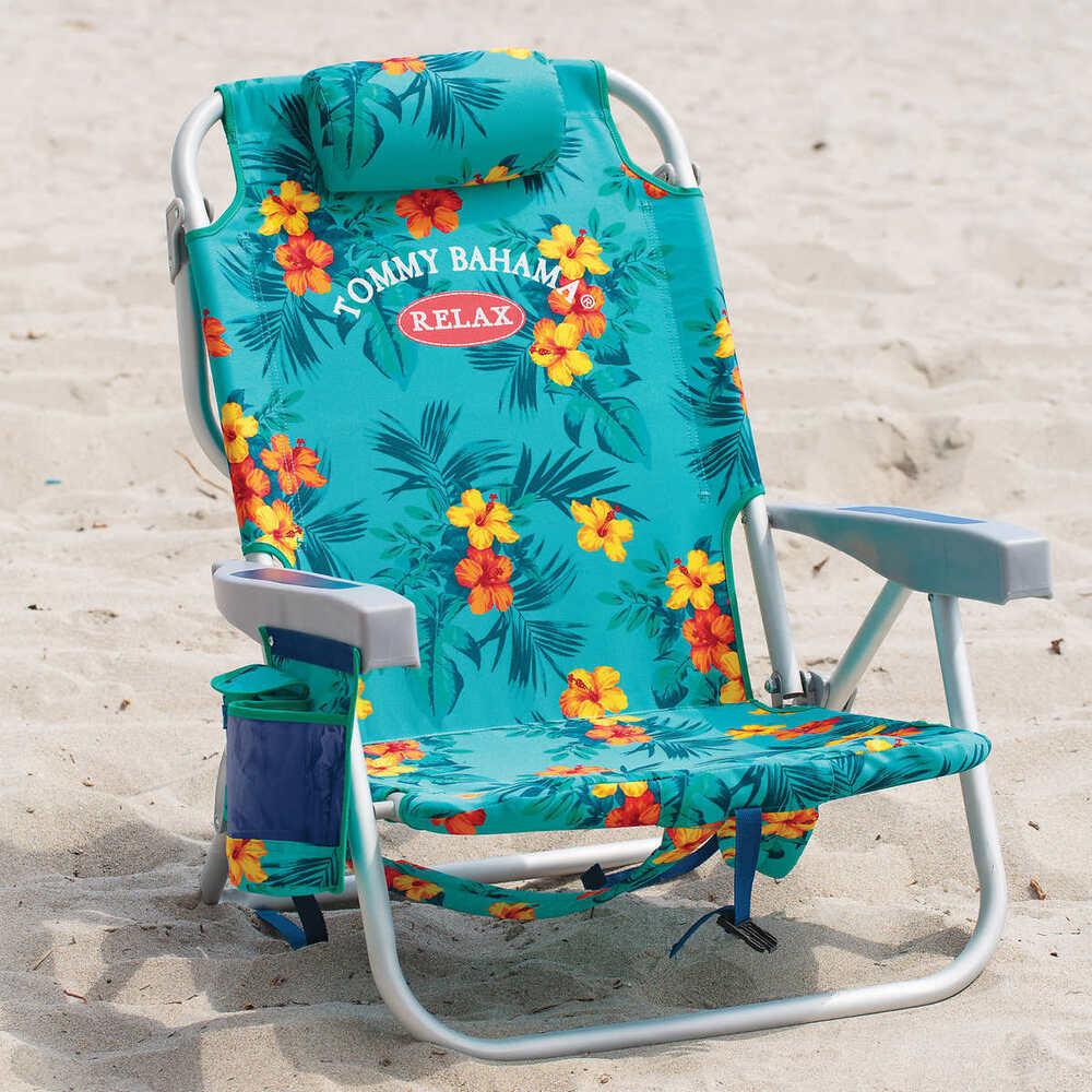 tommy bahama cooler chair target kitchen cushions backpack beach chair- floral | ebay