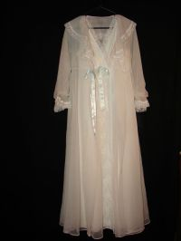 Shadowline Wedding White Bride Lace Sheer Night Gown and ...