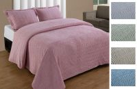 NATICK CHENILLE BEDSPREAD AND PILLOW SHAM SET, ALL COTTON ...