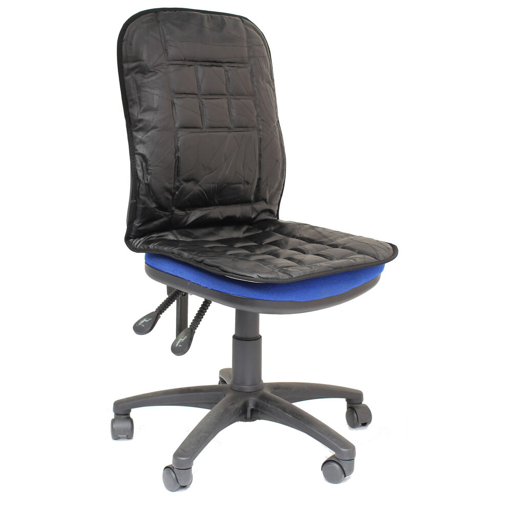 ORTHOPAEDIC LEATHER DESK/OFFICE CHAIR BACK/SEAT CUSHION