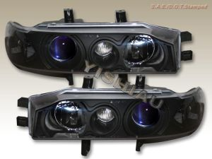 19901993 Honda Accord Projector Headlights Black NEW | eBay