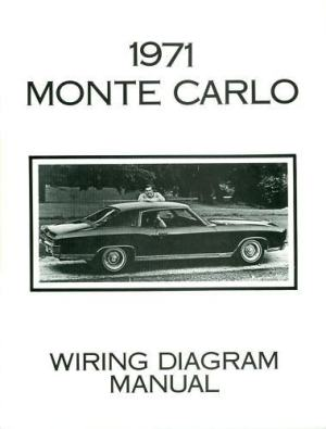1971 CHEVROLET MONTE CARLO WIRING DIAGRAM MANUAL | eBay