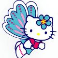 Hello kitty butterfly character wall safe sticker border cut