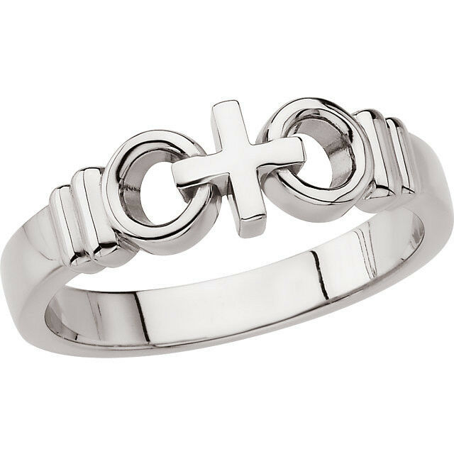 Mens Joined By Christ Wedding or Promise RingChristian Wedding Band Sizes 812  eBay