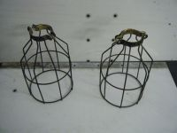 steampunk safety cage trouble light industrial wire lamp