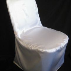Chair Covers Wedding Buy Ergonomic With Headrest 100 Satin Banquet White Ivory Black Silver Champagne | Ebay