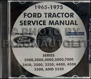 Ford Tractor Shop Manual CD 2000 3000 4000 5000 7000