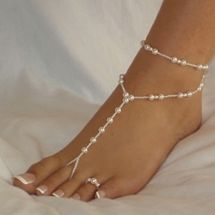 Ankle Bracelet with Toe Ring