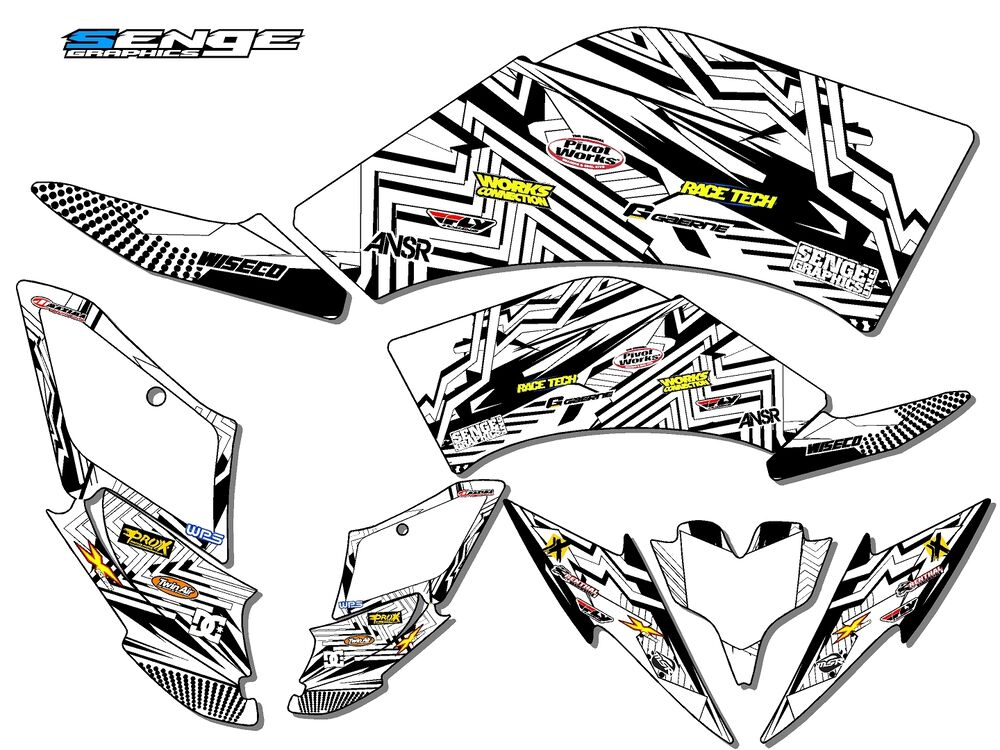 RAPTOR 250 YAMAHA GRAPHICS KIT DECO STICKERS ATV QUAD 4