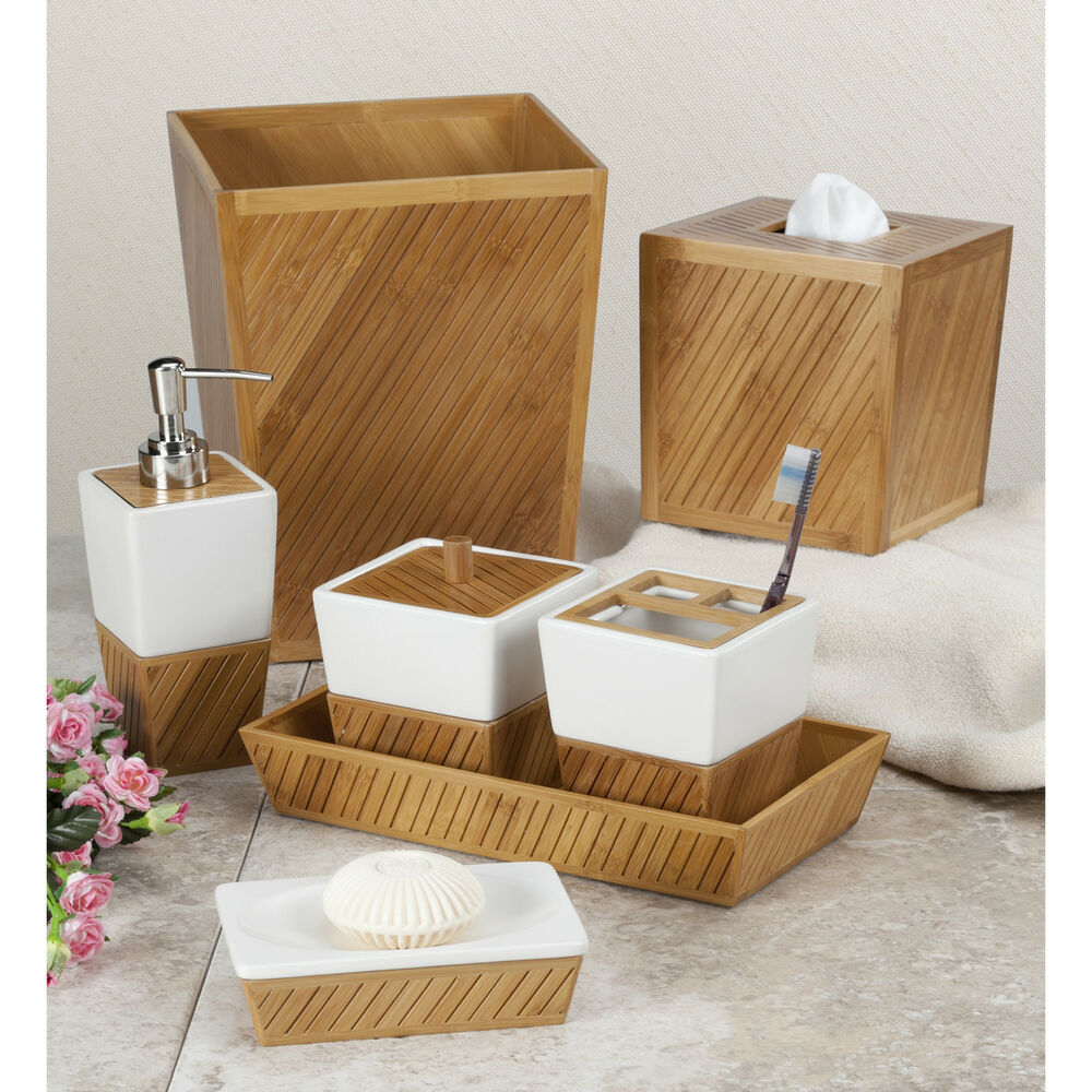 Spa Bamboo Bath Accessory Collection  eBay