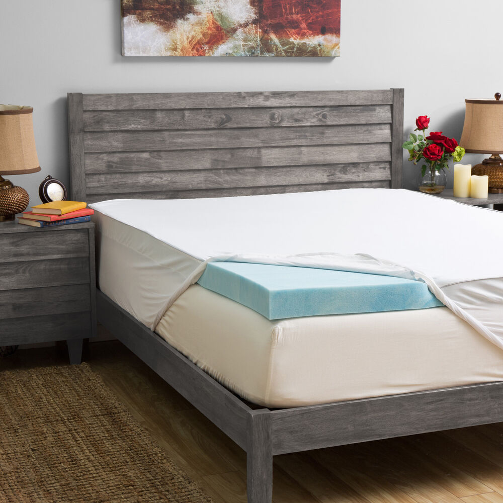 Grande Hotel Collection 4inch Gel Memory Foam Mattress Topper with 300 Thread C  eBay