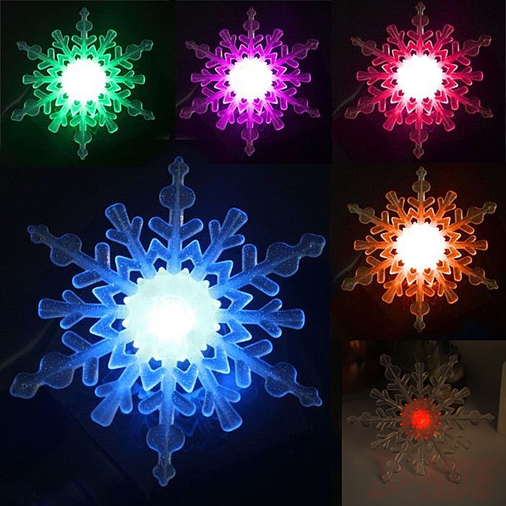 Color Changing Snowflake Window Ornament LED Christmas