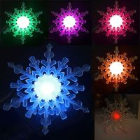Color Changing Snowflake Window Ornament LED Christmas ...