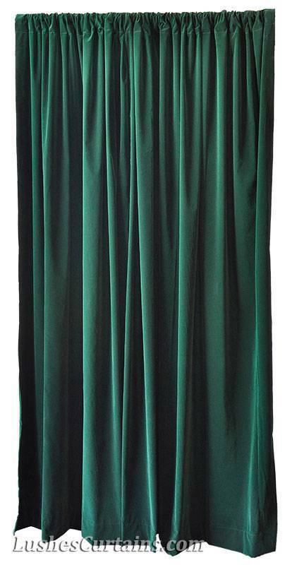 156 Inches High Ceiling Forest Green Velvet Curtain Long Panel Window Rod Drapes EBay