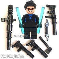 BM049W-B Lego Batman Blue Nightwing Minifigure with Custom ...