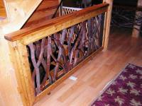 Rustic Tree Stair Porch Railings Interior Exterior Twig ...
