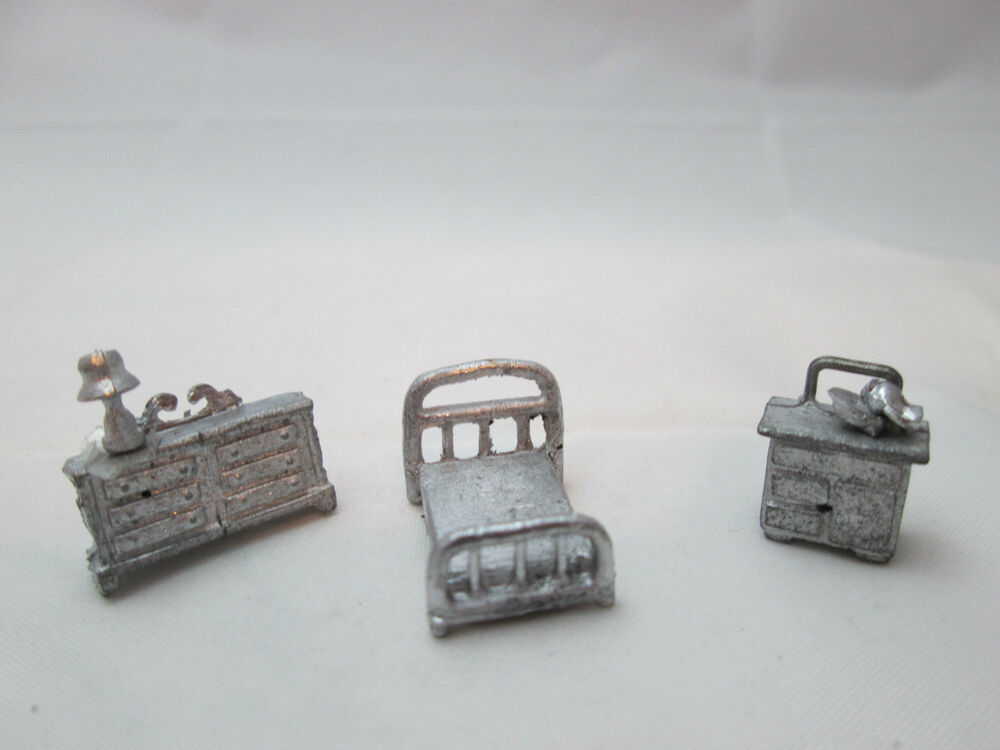 Dollhouse Miniature Unfinished Metal 144th Scale Bedroom 2 EBay