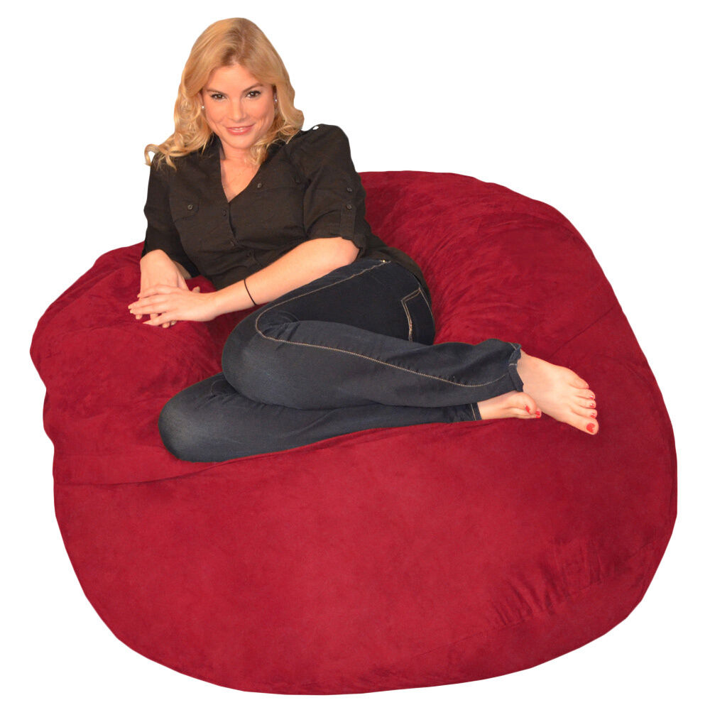 Memory Foam Bean Bag 4 Foot Chair  eBay