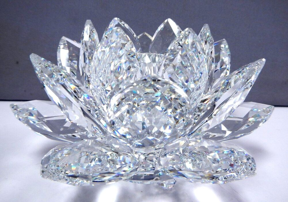 WATERLILY LARGE CRYSTAL CANDLE HOLDER 2014 SWAROVSKI