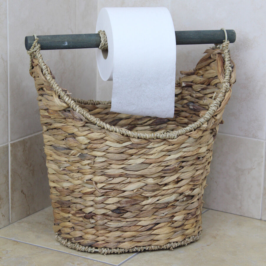 Rustic Toilet Paper Holder / Magazine Basket