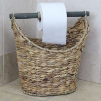 Rustic Toilet Paper Holder / Magazine Basket | eBay