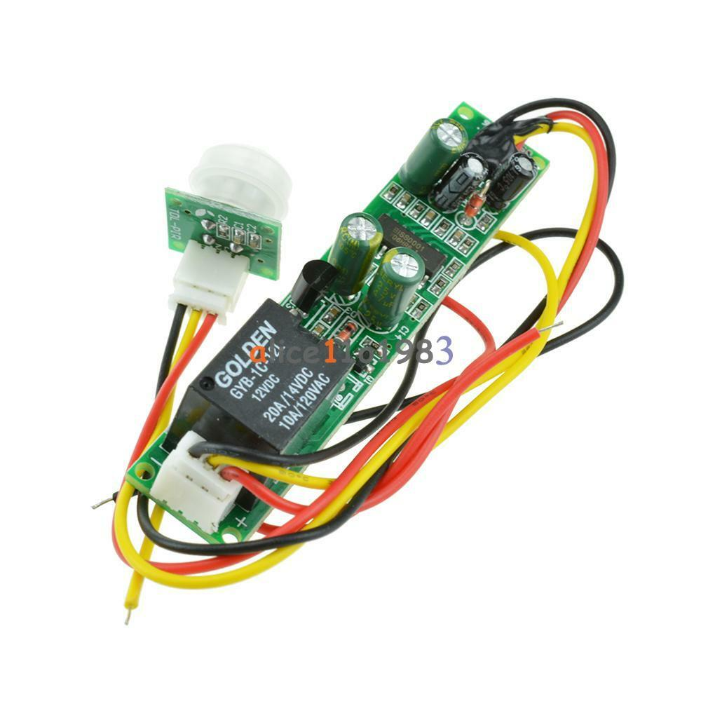 hight resolution of details about dc 12v 5a ir pyroelectric infrared pir motion sensor detector module