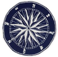 "AREA RUGS - ""MARINERS COMPASS"" RUG - 5' ROUND - INDOOR ..."