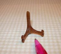 Miniature Dainty Walnut Plate or Picture Stand Holder ...