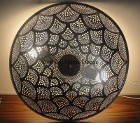 Handcrafted Moroccan Silver Plated Brass Flush Mount ...