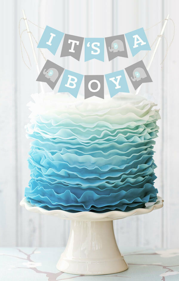 Personalized Baby Shower Cake Bunting Banner Baby Shower Cake Topper  eBay