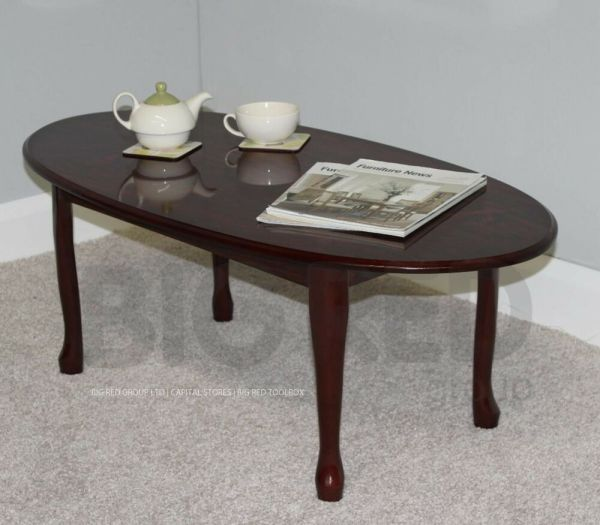 Queen Anne Mahogany Coffee Table
