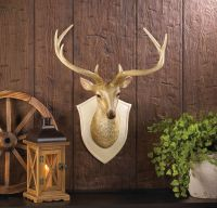 DEER BUST WALL DECOR Sculpture Mounted Faux Deer Head ...
