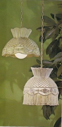 1970s Macrame Lamp Shade Patterns