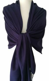 Navy Pashmina Dark Blue Wrap Ladies Shawl Womens Large ...
