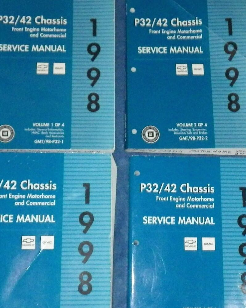 hight resolution of details about 1998 chevy gmc p32 42 chassis service repair shop manual set factory oem 1st edi