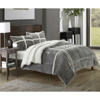 Chic Home Chiron Sherpa Lined Plush Microsuede 3-piece ...
