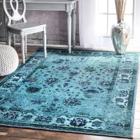 nuLOOM Traditional Vintage Inspired Overdyed Floral ...