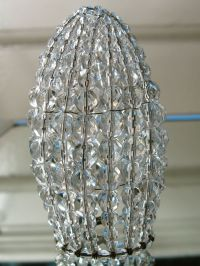Small Czech Beaded Light Bulb Cover Chandelier Candelabra
