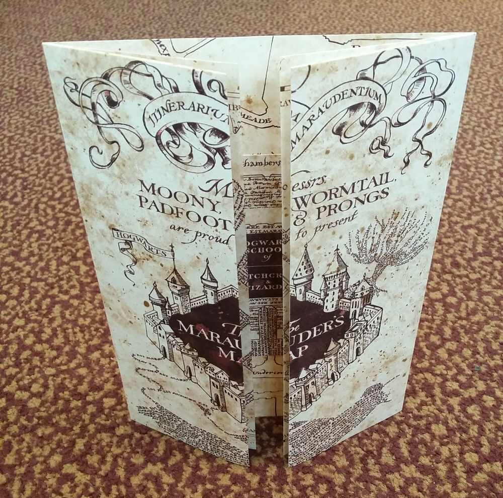 The Marauders Map Hogwarts School Of Witchcraft