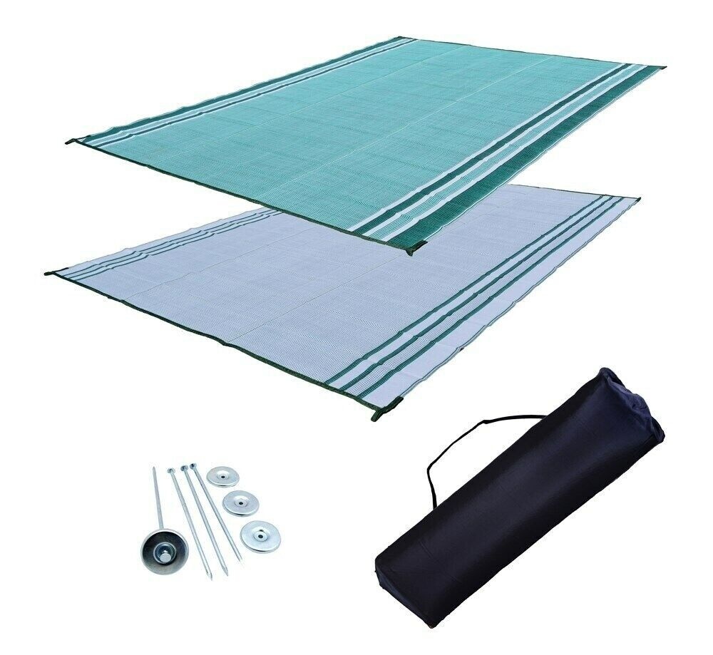 RV Patio Mat Motorhome Awning Mat Outdoor Mat Green