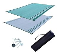 RV Patio Mat Motorhome Awning Mat Outdoor Mat Green ...